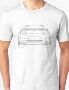Nissan R35 GTR Rear Wireframe Design | Tee Shirt & Apparel - Black Unisex T-Shirt