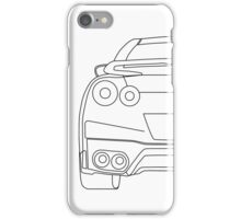 Nissan R35 GTR Rear Wireframe Design | Tee Shirt & Apparel - Black iPhone Case/Skin