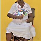 Cuban Woman with Fan  by Helen J Cherry