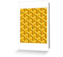 Goyard Perfect case yellow Greeting Card