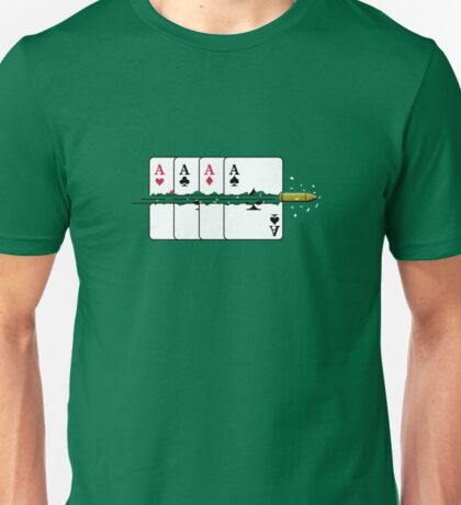 Shoot the Deck of Cards VRS2 Unisex T-Shirt