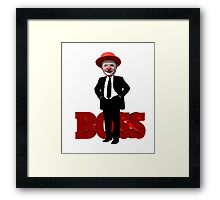 Funny Clown Boss Animinated Image Framed Print