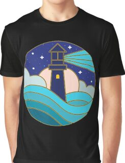 Lighthouse in the night Graphic T-Shirt
