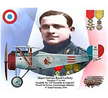 Major Gervais Raoul Lufbery Photographic Print