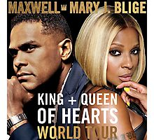 Maxwell & Mary J. Blige - King+Queen of Hearts World Tour Photographic Print