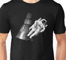 Space man and his tin can Unisex T-Shirt