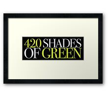 420 SHADES OF GREEN Framed Print