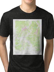 USGS TOPO Map Arkansas AR Hiwasse 258735 1971 24000 Tri-blend T-Shirt