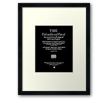 Shakespeare King John Frontpiece - Simple White Version Framed Print