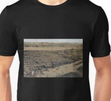 083 Brooklyn Bird's eye view of the City of New York Williams Burg NYPL Unisex T-Shirt