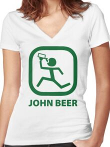 dont drink beer Women's Fitted V-Neck T-Shirt