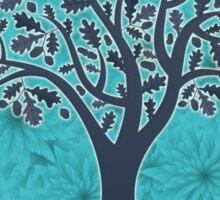 Mandala yoga tree of life blue one Sticker