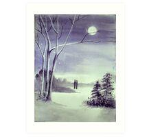 Moonlit Conversations Art Print