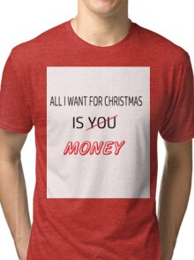All I want for Christmas - Funny Tri-blend T-Shirt