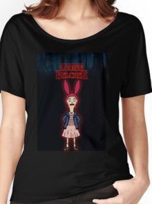 Stranger Things at Bob's Burgers Women's Relaxed Fit T-Shirt