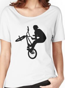 Freestyle Biker Silhouette Women's Relaxed Fit T-Shirt