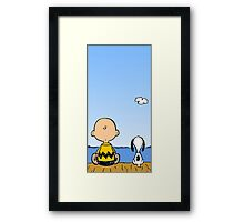 Snoopy and Charlie Brown Framed Print