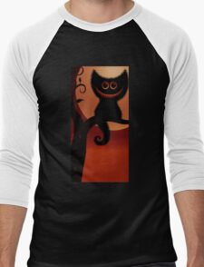 We are all mad here, Alice in wonderland we're all mad here, cheshire cat Men's Baseball ¾ T-Shirt