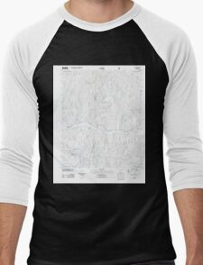 USGS TOPO Map Arkansas AR Yale 20110729 TM Men's Baseball ¾ T-Shirt