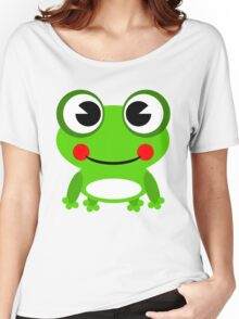 Cartoon Baby Frog Women's Relaxed Fit T-Shirt