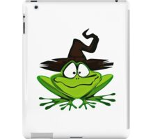 Frog Wearing Witch Hat iPad Case/Skin