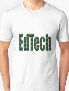 Edtech filled in with binary code  Unisex T-Shirt