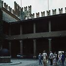 Marostica castellations on Wall Marostica Veneto Italy 19840729 0037 by Fred Mitchell