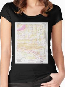 USGS TOPO Map Arkansas AR Menifee 259095 1991 24000 Women's Fitted Scoop T-Shirt