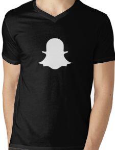 Snapchat Ghost Mens V-Neck T-Shirt