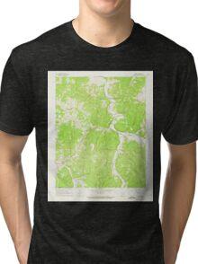 USGS TOPO Map Arkansas AR Osage 259322 1968 24000 Tri-blend T-Shirt