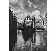 point of wiew of hamburg Photographic Print