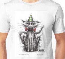 Happy Birthday cat Unisex T-Shirt