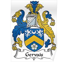 Gervais Coat of Arms (Irish) Poster
