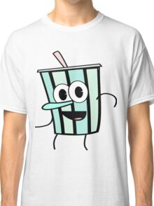 Funny Animinated Cool Drink Cup  Classic T-Shirt