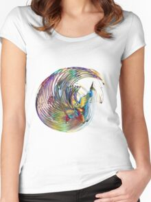 Art Colorful Rainbow Visually Interesting Women's Fitted Scoop T-Shirt