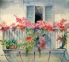 Flowers in the Balcony by chapidee