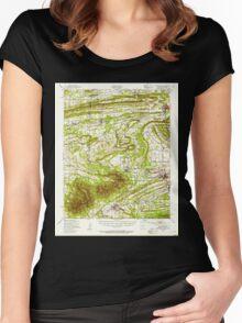 USGS TOPO Map Arkansas AR Greenwood 260079 1947 62500 Women's Fitted Scoop T-Shirt