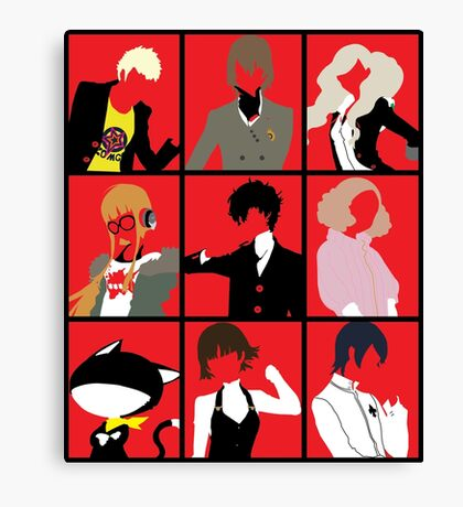 Persona 5 cast Canvas Print