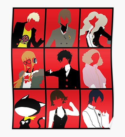 Persona 5 cast Poster