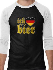 Classic Ich Liebe Bier I Love Beer Men's Baseball ¾ T-Shirt