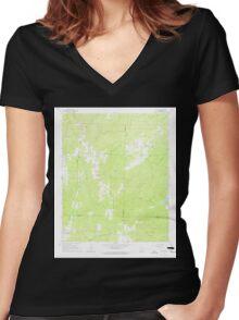 USGS TOPO Map Arkansas AR Willow 259879 1965 24000 Women's Fitted V-Neck T-Shirt