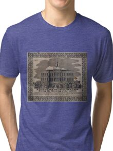 037 A view of the City Hall New York during the drawing of the lottery Tri-blend T-Shirt