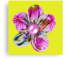 Pink, purple, yellow flowers Canvas Print