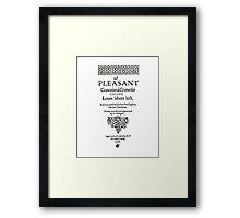 Shakespeare Love's Labors Lost Frontpiece - Simple Black Version Framed Print