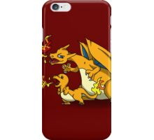 Charizard and Baby Charmander Fire Lesson iPhone Case/Skin