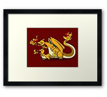 Charizard and Baby Charmander Fire Lesson Framed Print