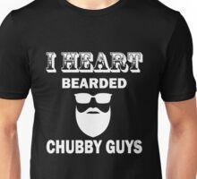 Beard - I Heart Bearded Chubby Guys Unisex T-Shirt