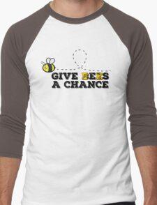 Give Bees A Chance Peace John Lennon Beautiful Quotes Nature Men's Baseball ¾ T-Shirt