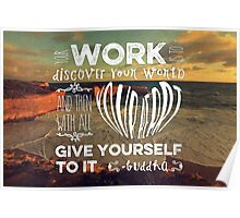 London Bridge Your Work is to Discover Your World Poster
