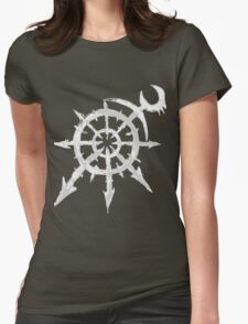 Mark of Chaos - Slaanesh (white) Womens Fitted T-Shirt